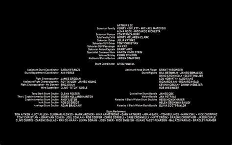 film credits are doubles listed in credits tv stack exchange