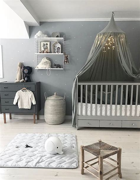 idee deco chambre bebe fille rose  gris