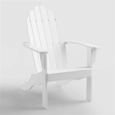White Easy Adirondack Chair by Antique White Adirondack Chair World Market