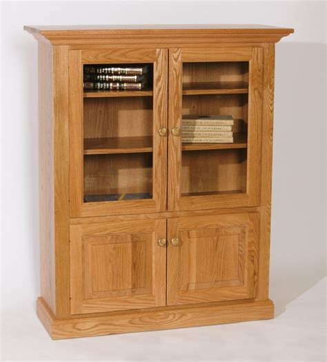 wood bookcase with doors furniture interior charming bookshelf with glass doors