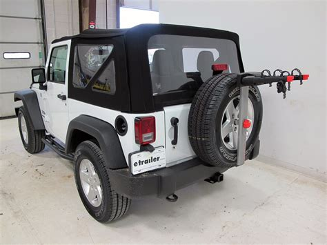 jeep wrangler bike rack 2015 jeep wrangler yakima sparetime 2 bike carrier spare