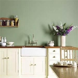 Sage green kitchen white cabinets purple accent for Kitchen colors with white cabinets with decorative wall paper art sticker