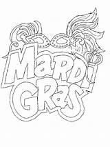 Coloring Gras Mardi Carnival Shovel Steam Season Template sketch template