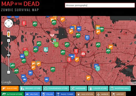 map dead zombie apocalypse survival maps google geekologie aid zombies survive comanche jeep hunting locations location