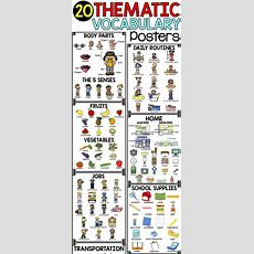 Thematic Vocabulary Posters  20 Visual Posters Of Vocabulary For Beginning Ells