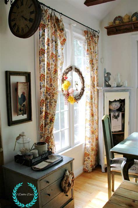 no sew tablecloth curtains debbiedoos
