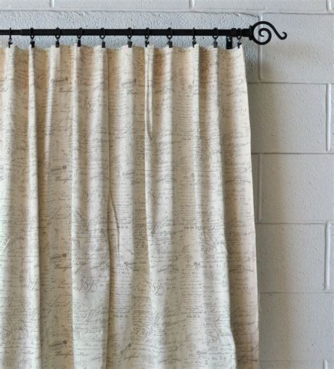 Drapery Company by Scripted Linen Designer Drapery Curtain Panels Two