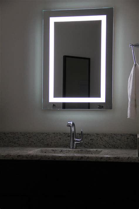 lighted bathroom mirrors wall lighted image led bordered illuminated mirror large