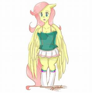 Fluttershy anthro by Igusek on DeviantArt