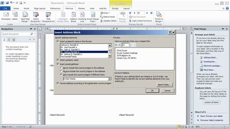 how to use word how to use word 2007 2010 mail merge wizard to print