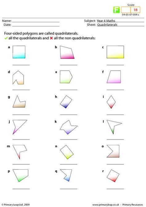 all worksheets 187 quadrilaterals worksheets printable