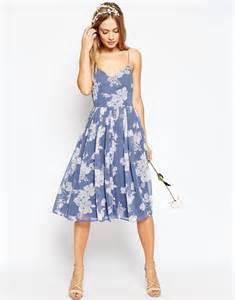 midi wedding dress asos asos wedding print midi dress at asos