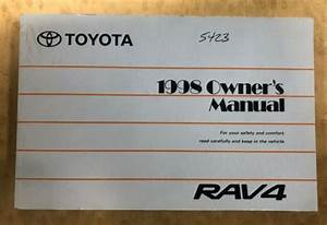 1998 Toyota Rav4 Owners Manual User Guide Reference