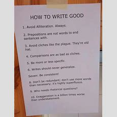 How To Write Good!  Brunton Bid Writing