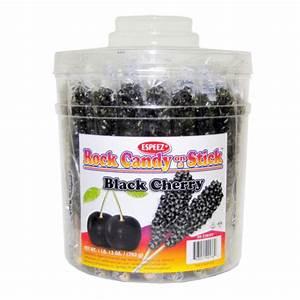 Black Cherry Rock Candy on a Stick