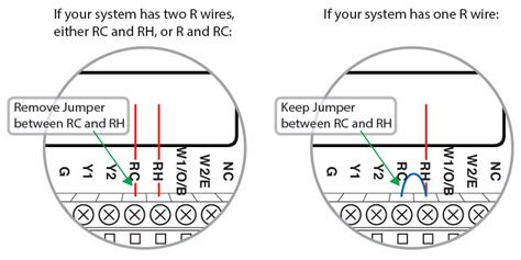 thermostat wiring configurations customer support