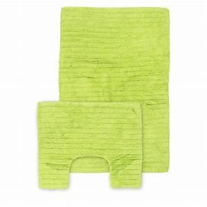 tapis de salle de bain contour wc vert With tapis de bain vert