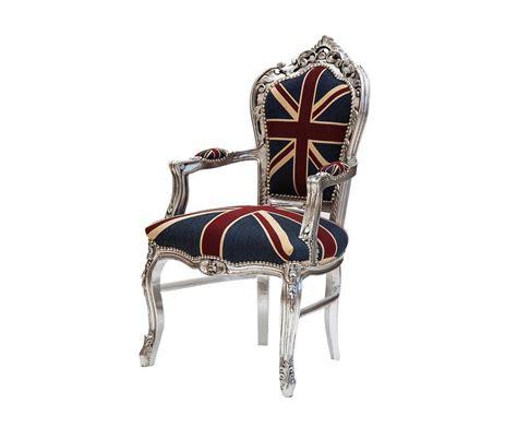 poltrona bandiera inglese poltrona in stile barocco con braccioli e bandiera inglese