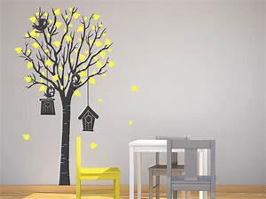 Wandtattoo Baum Kinder : wandtattoo baum mit lustigen v geln bei ~ Whattoseeinmadrid.com Haus und Dekorationen
