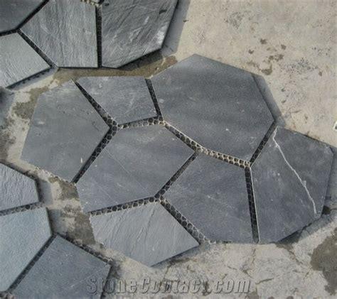 xingzi black slate flagstone patio flooring pavers dark