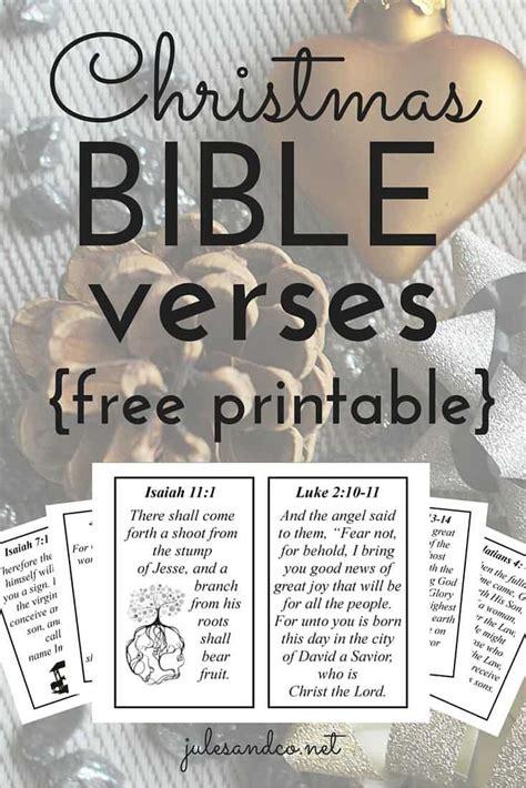 10 bible verses free printable jules amp co 412 | Christmas