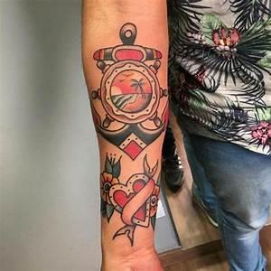 Männer Tattoo Unterarm : anker tattoo motive 54 coole ideen f r ihre n chste t towierung tattoo ideen pinterest ~ Frokenaadalensverden.com Haus und Dekorationen