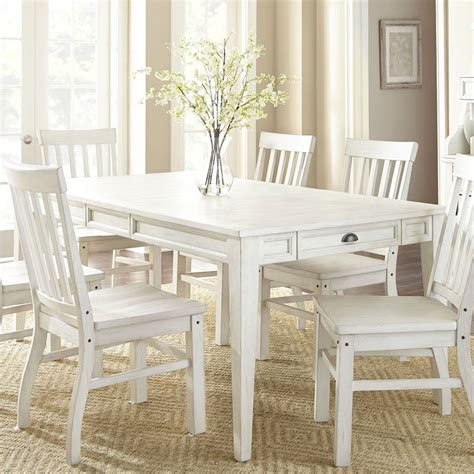 cayla rectangular dining table white steve silver