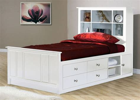 Beds With Drawers. Gallery Of King Size Black Wooden Bed
