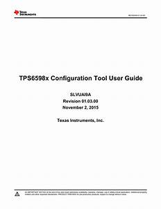 Tps65982 Configuration Tool User S Guide