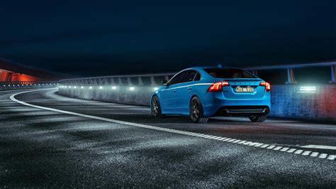 volvo blue car road night wallpaper cars wallpaper