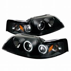 1999-2004 Ford Mustang CCFL Black Projector Headlights
