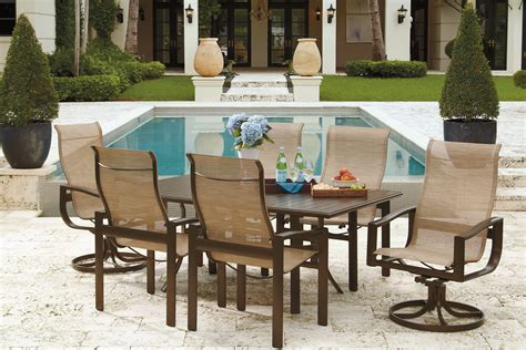 overstock patio furniture corona outdoor rattan 7piece
