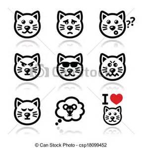 Sad Cat Face Clip Art