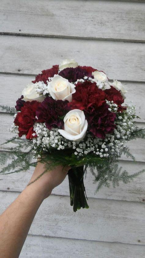 rich colored bridal bouquet  burgundy  deep purple
