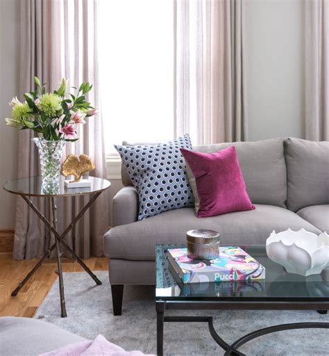 Raspberry Living Room Accessories by Room Of The Day A Painting Sets The Tone