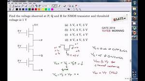 Problem On Nmos Pass Transistor Logic  Gate 2014 Ece Paper
