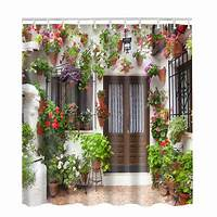 nature shower curtains Nature Scenery 3D Shower Curtain Waterproof Fabric Bath Bathroom With Hook Decor