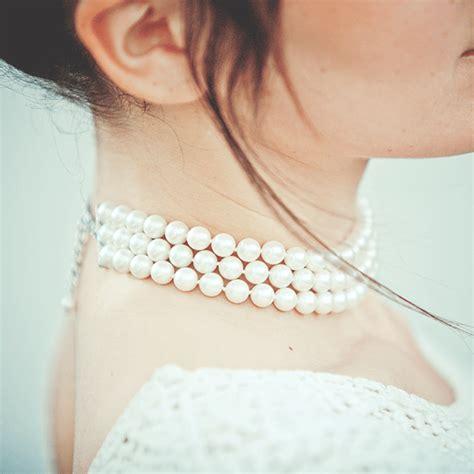 ras de cou perle collier de chien ras de cou femme en perles blanches