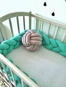 Tour De Lit Tressé : braided crib bumper knot pillow knot cushion decorative pillow bolster crib bedding crib ~ Teatrodelosmanantiales.com Idées de Décoration