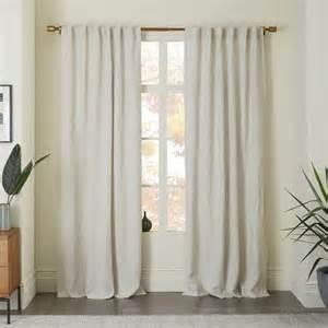 belgian linen curtain in