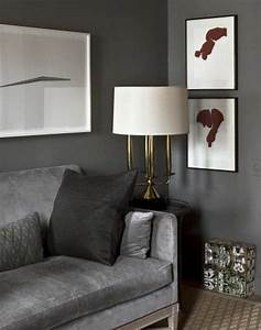 Grau Grün Wandfarbe : die graue wandfarbe 43 interieur ideen damit ~ Frokenaadalensverden.com Haus und Dekorationen