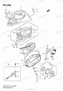 Suzuki Motorcycle 2008 Oem Parts Diagram For Speedometer  Vl800k7  K8  Tk7  Tk8