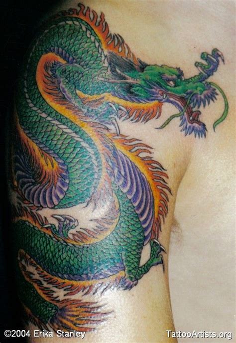 japanese dragon tattoo color meaning full color dragon