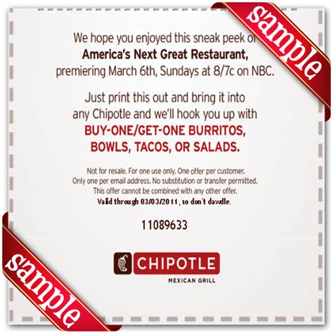Free Chipotle Coupons Printable | 2017 - 2018 Best Cars ...