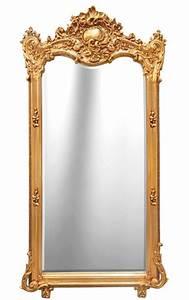 Miroir Doré Rectangulaire : grand miroir baroque rectangulaire dor ~ Teatrodelosmanantiales.com Idées de Décoration