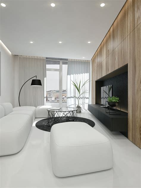 black  white interior design ideas modern apartment  id white architecture beast