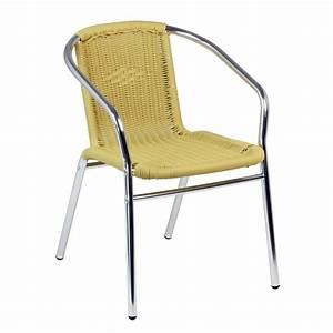 Chaise Terrasse Restaurant : fauteuil de terrasse aluminium et tressage cra 27e one mobilier ~ Teatrodelosmanantiales.com Idées de Décoration