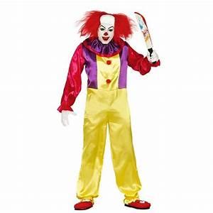 Déguisement Halloween Qui Fait Peur : d guisement clown tueur adulte aille unique achat vente d guisement panoplie cdiscount ~ Dallasstarsshop.com Idées de Décoration
