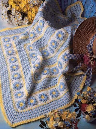 crochet floral garden afghan