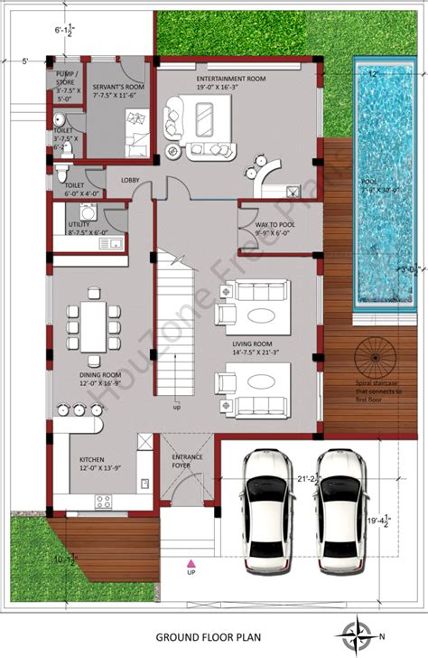 east facing house plan houzone